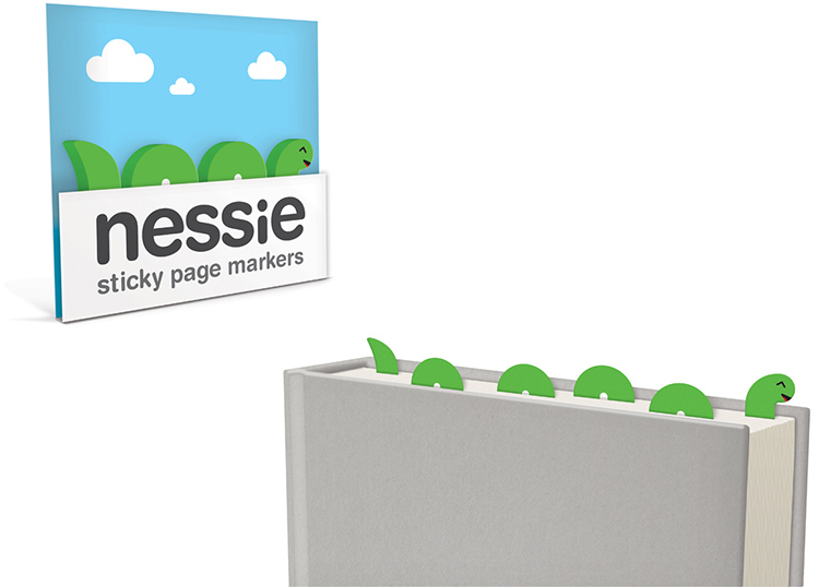 014_Sticky_Page_Markers_NESSIE_paper_bookmarks