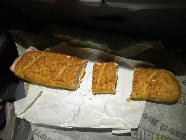 Pan partido en 3 partes